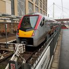 The first new Stadler train from Ipswich on arrival at Cambridge station. Picture: GREATER ANGLIA