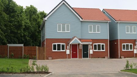 Some of Flagship's 'modular' homes in Newmarket Picture: FLAGSHIP