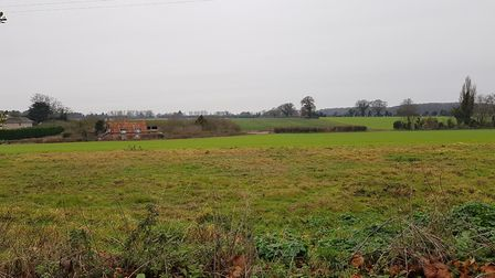 The land surrounding Westleton vicarage which could be developed Picture: RACHEL EDGE