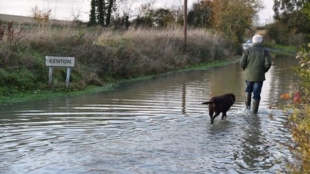 Flooding was particularly bad around the Kenton area of Eye on Wednesday Picture: SONYA DUNCAN