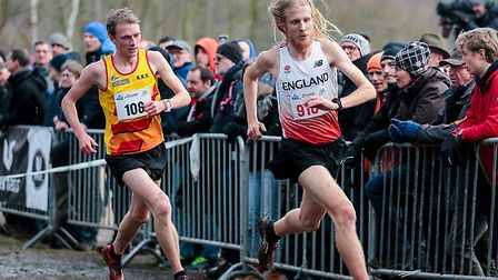 Suffolk's Jack Millar, on his way to sixth spot while representing England at an international meeti