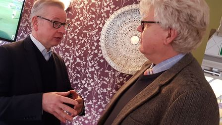 """Both parties have been sending """"Big guns"""" into Ipswich. Michael Gove visited on Wednesday. Picture:"""