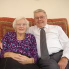 John Geater photographed with his wife June on their Diamond Wedding in 2012. Picture: ARCHANT