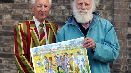 When Alan Cocksedge (left) produced, in 2011, a book on the history of Sudbury Cricket Club. He's pi