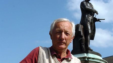Another picture of Alan when he was campaigning for more statues of Gainsborough in Sudbury Pictu