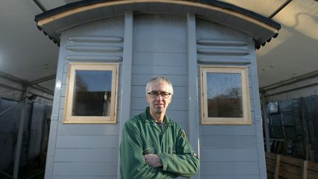 Cabinet maker Stuart Harris has recently diversified his business by converting disused railway carr