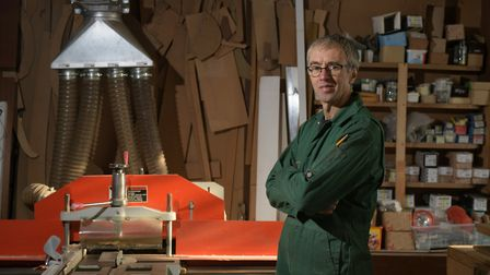 Cabinet maker Stuart Harris in his workshop Picture: SARAH LUCY BROWN