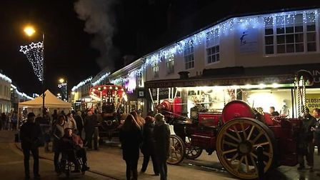 The Christmas lights in Sudbury were swtiched on this weekend. Picture: TERESA POOLE