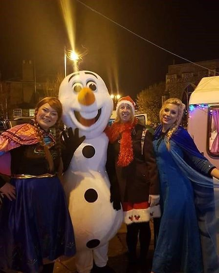 Characters from frozen attended the Christmas lights swtich on in Sudbury. Picture: KIRSTY HINGSTON