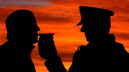 An arrest was made just 45 minutes into Suffolk police's Christmas drink and drug driving campaign P