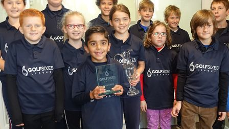 The Ipswich Golf Club youngsters who won the Suffolk SuperSixes. Photograph: CONTRIBUTED