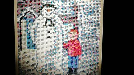 More than 4,000 toy bricks went into creating this still photo Picture: Nicola Warren