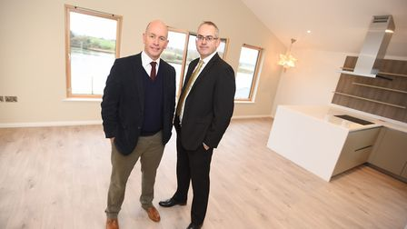 Left to right - Julian Wells, Director of FW Properties, and Michael Manning of RG Carter. Picture: