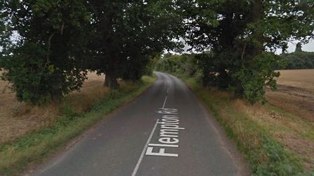 Police are appealling for information after a two-vehicle crash in Flempton Road, Risby Picture: GOO