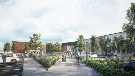 Latest artist impression images of what the new Western Way public services hub in Bury St Edmunds c