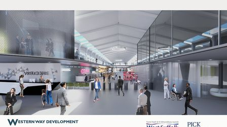 An artist's impression inside the development released earlier on in the plans. Picture: WEST SUFFOL