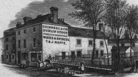 This drawing of the Blue Posts is one of the few depictions of the pub which once resided in Stowmar