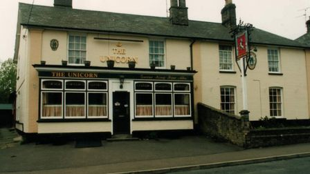 This pub, the Unicorn, is one of the many lost pubs of Stowmarket. Picture: NEIL LANGRIDGE