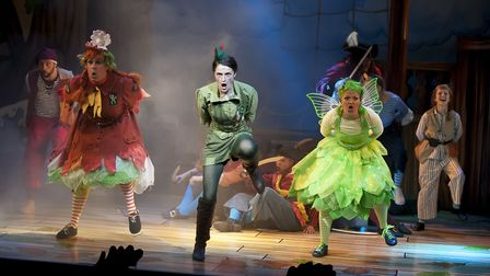 Oliver Mawdsley, Chris Clarkson, Lauren Chinery, Anna Campkin and Young Chorus in Peter Pan, this ye