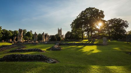 Bury St Edmunds has been named the second happiest place to live in the east of England. Picture: TO