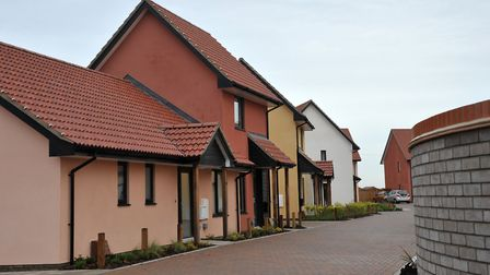Peek Close is a new community led housing development in Lavenham Picture: SARAH LUCY BROWN