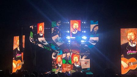 Ed Sheeran performed in front of thousands at Chantry Park this summer Picture: CHARLOTTE BOND