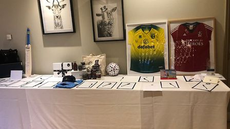 Some of the items which were auctioned off for EACH Picture: ALICE BULL