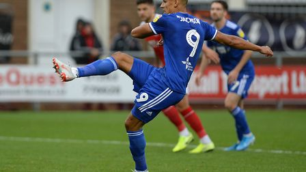Kayden Jackson has started 16 league games for Ipswich Town this season. Photo: Pagepix