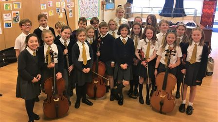 Children from Kyson Primary School in Woodbridge have put their money towards instruments for their