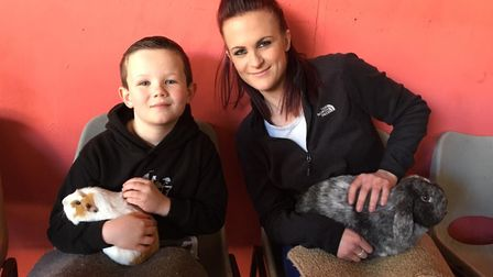 Laura Hutton, of Bury St Edmunds, with her son Kylan Downey who caught scarlet fever Picture: LAURA