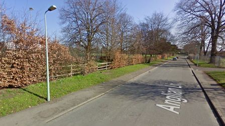 The alleged assault happened in Anglian Lane, Bury St Edmunds, near to St Benedict's School where th