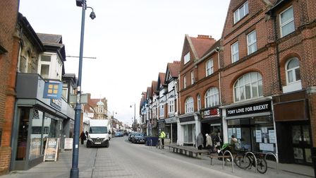 Hamilton Road, Felixstow where the new Wetherspoons is planned to be built. Picture: DAVID VINCENT