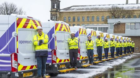 Openreach engineers readying themselves for winter Picture: OPENREACH