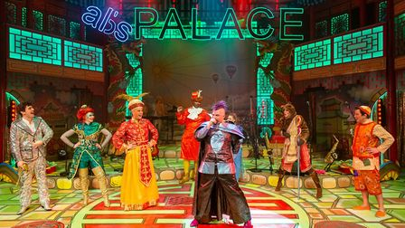 Abanazer (Richard Costello) takes control of the royal palace in Shanghai. The New Wolsey's rock'n'r
