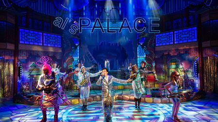 The New Wolsey's rock'n'roll panto Aladdin offers audiences a dazzling musical treat. A fun-filled C