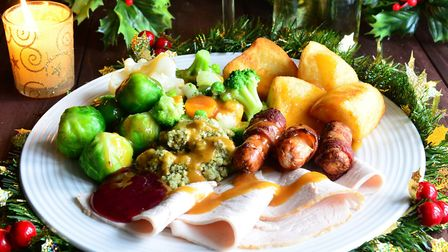 A traditional English Christmas dinner - most athletes will indulge on the big day, but then get bac