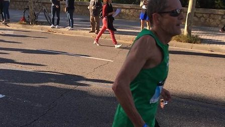 Paul Mingay, in action at last weekend's Valencia Marathon, where he set a new all-time UK over-60 r