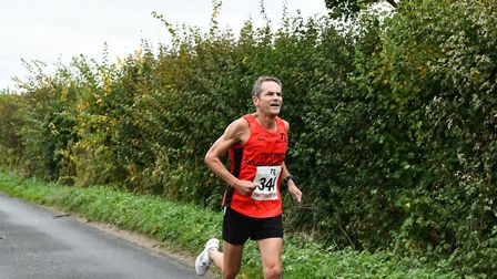 Paul Mingay, in the colours of his former club Tiptree Road Runners, has enjoyed a record-breaking y