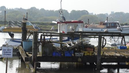 The vessel is reported to have come ashore at Southwold Harbour Picture: SARAH LUCY BROWN