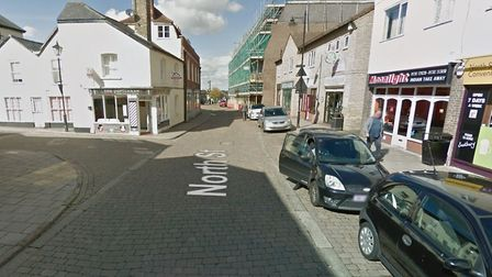 The fire broke out in a kitchen in a house in North Street, Sudbury. Picture: GOOGLE MAPS