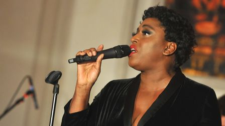 Mica Paris sang at the fundraising event at St Edmundsbury Cathedral Picture: LUCY TAYLOR PHOTOGRAPH