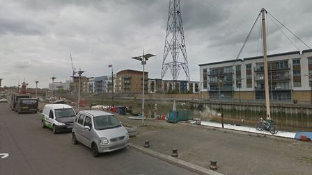 Crews were called to a fire at King Edward Quay in Colchester Picture: GOOGLE MAPS