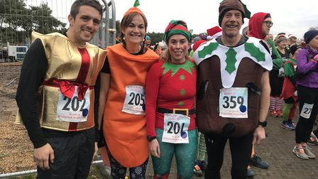 Thousands of runners turned up with their best Christmas attire to West Stow Country park to partici