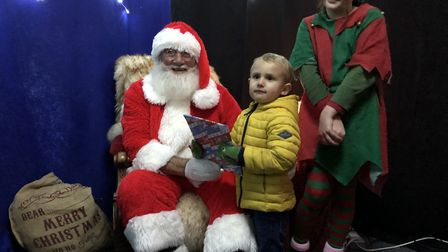 A visit to Santa's grotto for three-year-old Rupert Rushbrook from Stowmarket Picture: MARK LANGFOR