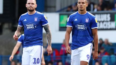 James Norwood and Kayden Jackson could be reunited for the game with Coventry. Picture: ROSS HALLS