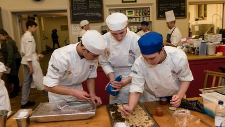 The students prepared meals for more than 300 guests Picture: BRIAN TUNBRIDGE
