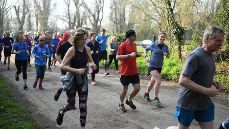 Action from the Clare Castle parkrun, in Suffolk. Picture: MIKE ELDRED PHOTOGRAPHY