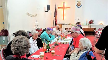 This picture was taken at last year's Christmas dinner held by the Salvation Army in Woodbridge and