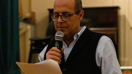 Nick Robinson was quizmaster at Orford Town Hall Picture: Chris Silovsky