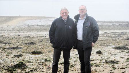 Left to right, AONB Partnership chairman David Wood and manager Simon Amstutz, have concerns about S